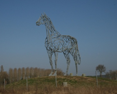 Horse sculpture outside Saumur