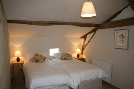 Orchard Cottage pine bedroom